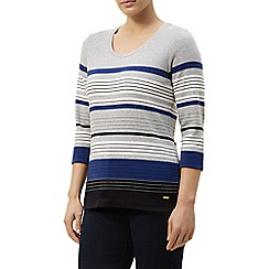 Dash - Striped scoop neck top