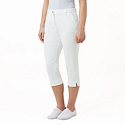 Dash - White crop trouser