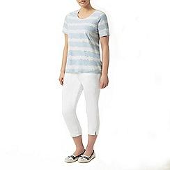 Dash - Short sleeve paisley stripe tee