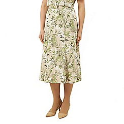 Eastex - Tropical leaf fit and flare skirt