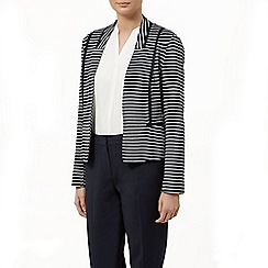Planet - Stripe ponte jacket