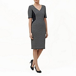 Planet - Stripe ponte shift dress