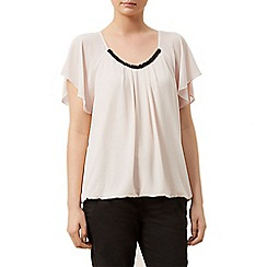 Kaliko - Beaded detail bubble hem top