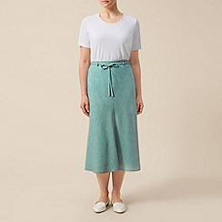 Eastex - Linen look drawstring skirt