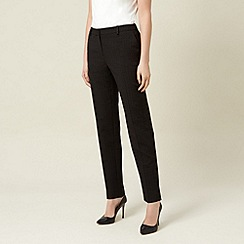 Planet - Black jacquard trousers