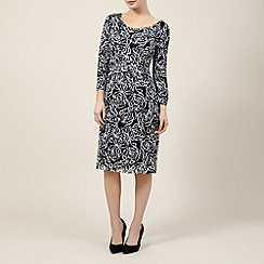 Precis Petite - Lace print 3/4 sleeve dress