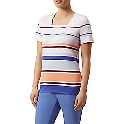 Dash - Short sleeve stripe square neck