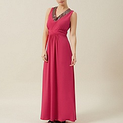 Precis Petite - Pink embellished maxi dress
