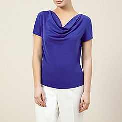 Precis Petite - Bright blue cowl neck