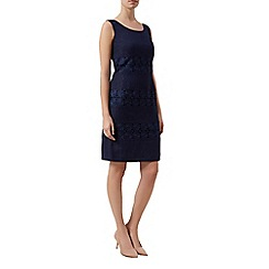 Kaliko - Lace insert stripe dress