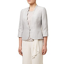Jacques Vert - Contrast trim scalloped jacket