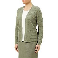 Eastex - Ottoman stripe cardi khaki