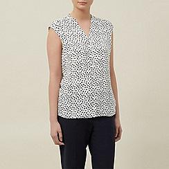 Planet - Ivory spot blouse
