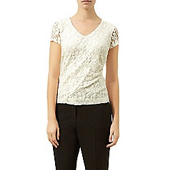 Planet - Ivory lace top