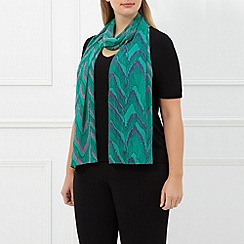 Windsmoor - Green Fringed Follies Scarf