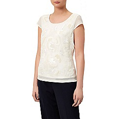 Kaliko - Embellished detail floral top