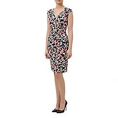 Planet - Leaf Print Jersey Dress