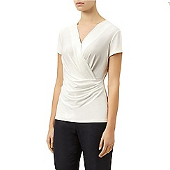 Planet - White jersey wrap top