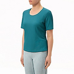 Eastex - Turquoise pique top
