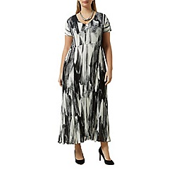 Windsmoor - Black white crinkle dress