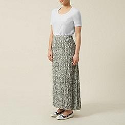 Dash - Printed crinkle maxi skirt