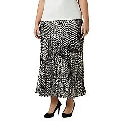 Windsmoor - Mono print crinkle skirt