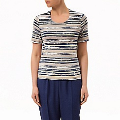 Eastex - Monaco watercolour stripe top