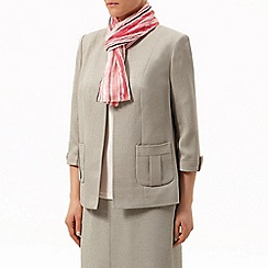 Eastex - Coral crinkle stripe scarf