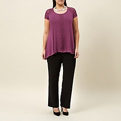 Windsmoor - Magenta jersey lace tunic