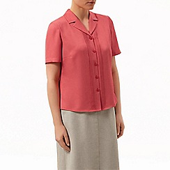 Eastex - Pintuck short sleeve blouse