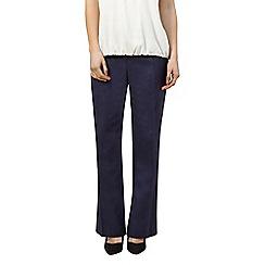 Precis Petite - Linen navy trouser