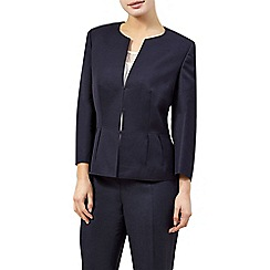 Precis Petite - Collarless linen jacket