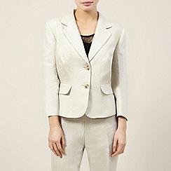 Precis Petite - Linen collar revere jacket