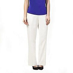 Precis Petite - Ivory linen trouser