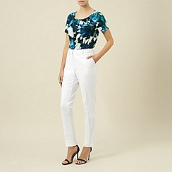 Planet - Ivory cropped trouser