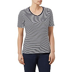 Dash - V neck stripe tee