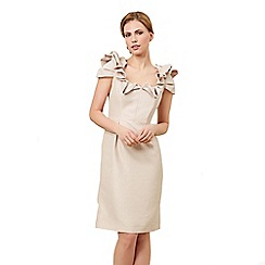 Jacques Vert - Shift dress with neck detail cream