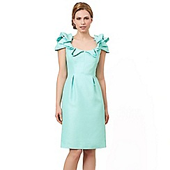 Jacques Vert - Shift dress with neck detail green