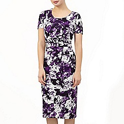 Precis Petite - Painted Floralprint Dress