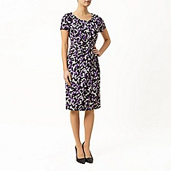 Precis Petite - Brushstroke Print Jersey Dress