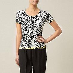 Precis Petite - Floral & spot printed knit top