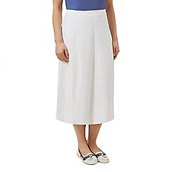 Dash - Linen midi skirt