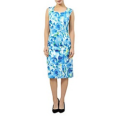 Precis Petite - Aqua cotton sateen dress