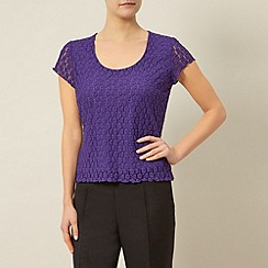 Precis Petite - Purple Lace Top