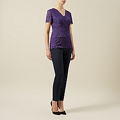 Kaliko - Tiered lace jersey top