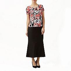 Precis Petite - Black linen skirt