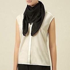 Planet - Black geo scarf