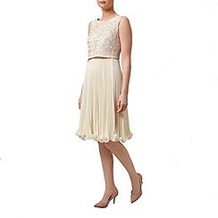 Kaliko - Rose tape pleat detail dress