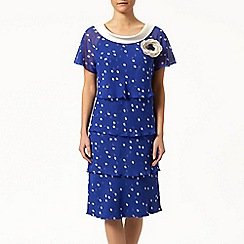 Jacques Vert - Petite spot tiered soft dress