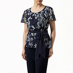 Jacques Vert - Butterfly floral belted top